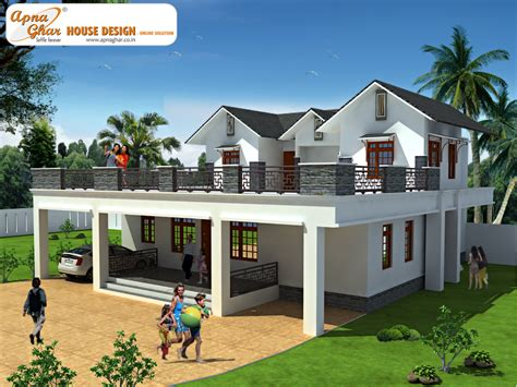 houses design duplex house design apnaghar house design