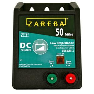 zareba 50 mile battery operated low impedance charger
