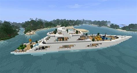 how to make a big yacht in minecraft modern giant yacht minecraft project
