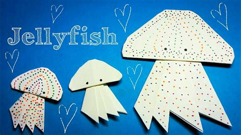 origami jellyfish tutorial origami jellyfish image collections craft decoration ideas
