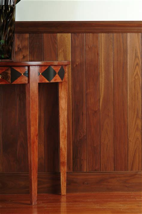 Walnut Wainscoting Panels Solid Wood Planking Walnut Oak Entrance American
