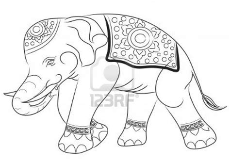 asian elephant coloring pages asian elephant drawing by illustration royalty free stock