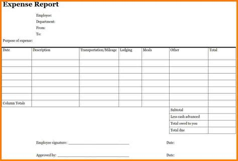 expense report template free 8 expense report templates resume reference