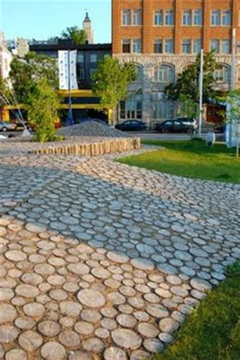 1000 images about wood patio pavers on logs