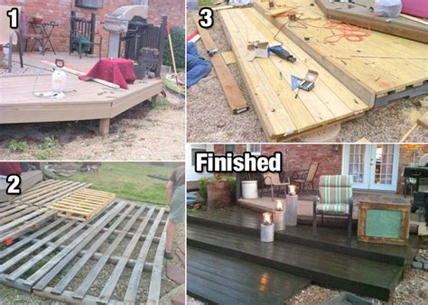 build a diy deck with wood pallets for cheap wood