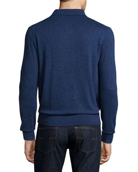 Cardigan Rajut Bayi Polos Navy 4 neiman sleeve polo sweater royal navy melange