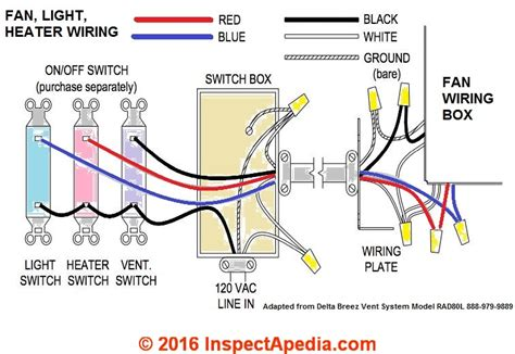 wiring diagram for bathroom fan heater wiring diagram