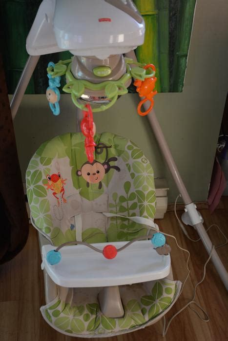 fisher price 3 position swing fisher price swing w 3 positions tray mobile and extras