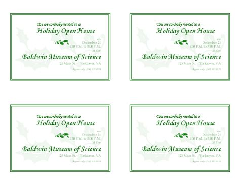 Download Free Printable Invitations Of Holiday Open House Invitation Open House Invitation Template