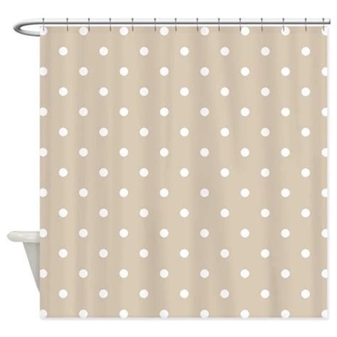 brown polka dot shower curtain brown beige polka dots pattern s shower curtain by
