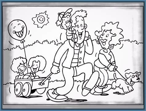 imagenes niños felices para colorear dibujos para colorear de familias felices archivos