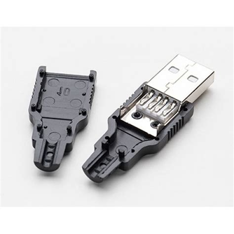 Soket Socket Usb Type A 4 usb diy connector shell type a usba diy