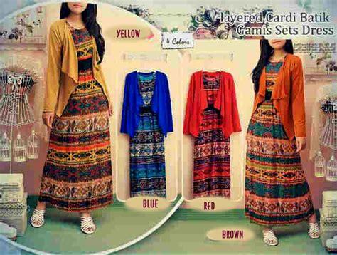 Dress Wanita Cewek Spandek 02 batik modern yossa set rmc49 koleksi baju batik etnik