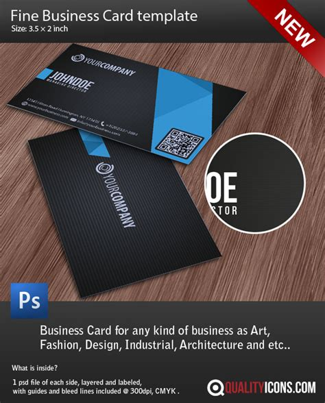 business card template psd file by qualityicons on