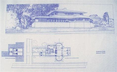 frank lloyd wright blueprints frank lloyd wright henderson house blueprint by