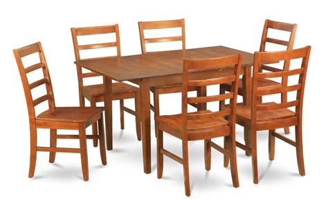 mahogany leaf and 6 dining room chairs 7 piece dining set 7 piece dinette set for small spaces dining tables and 6