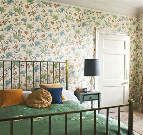 green country bedroom country style floral interiors by color