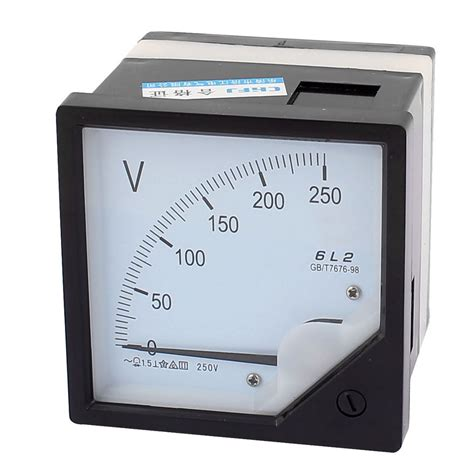 ac 0 250v analog panel volt voltage meter voltmeter
