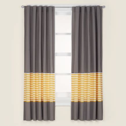 yellow and grey patterned curtains curtains kids room decor