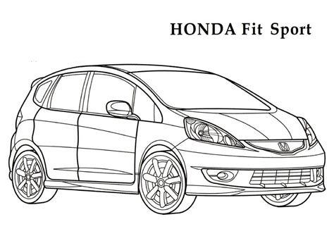 Coloring Pages Honda Cars | honda coloring pages 14 honda kids printables coloring