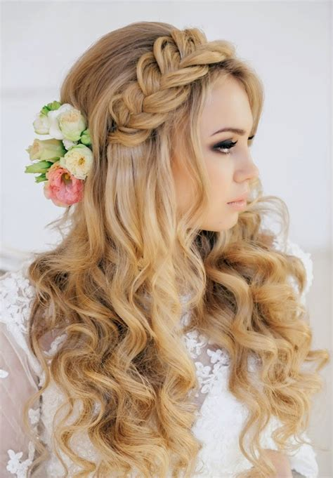23 glamorous bridal hairstyles with flowers pretty designs