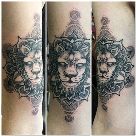 tattoo mandala lion by swirlysinatra dotwork lion mandala favorite