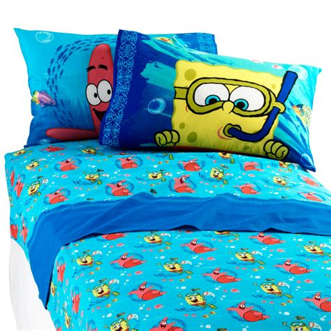 nickelodeon spongebob sea adventure sheet set home bed
