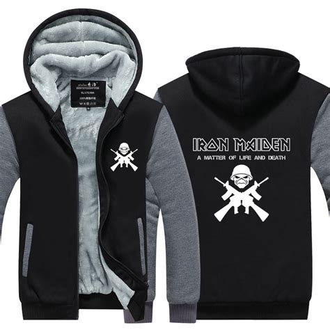 Vest Zipper Hoodie Steve Aoki 01 î iron maiden hoodies â sleeve band jacket â ª rock rock heavy metal thicken
