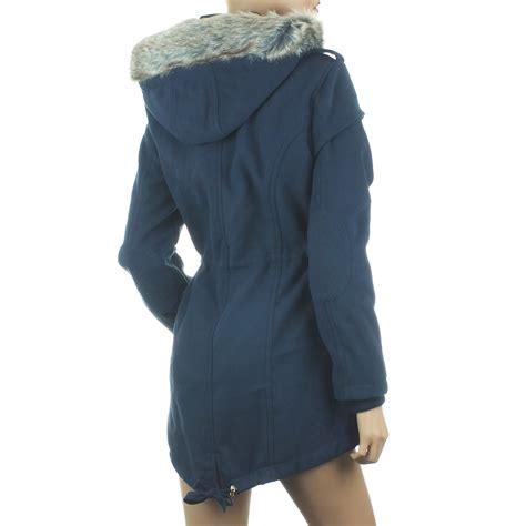 New Dc Parka Grey ex blue inc parka coat womens jacket winter