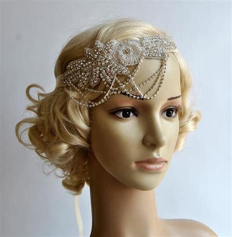 flapper headpiece diy glamour rhinestone flapper gatsby headband chain 1920s