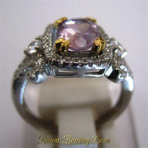 Kotak Cincin Fashion Wanita cincin silver wanita batu permata amethyst cushion cut size m uk