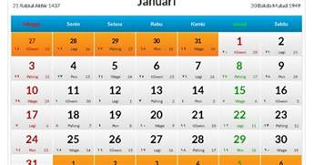 Kalender 2018 Indonesia Islam Kalender Januari 2016 Indonesia Kalender Indonesia 2017