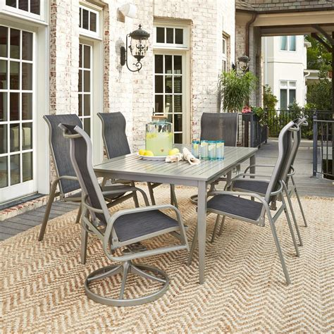 south 7 dining set home styles south gray 7 aluminum