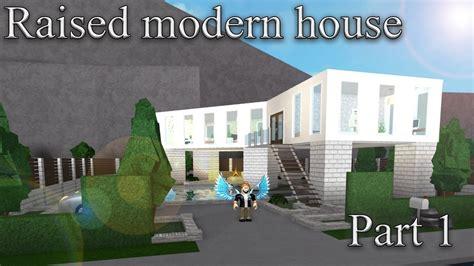 1 floor mansion bloxburg lets build bloxburg raised modern house part 1