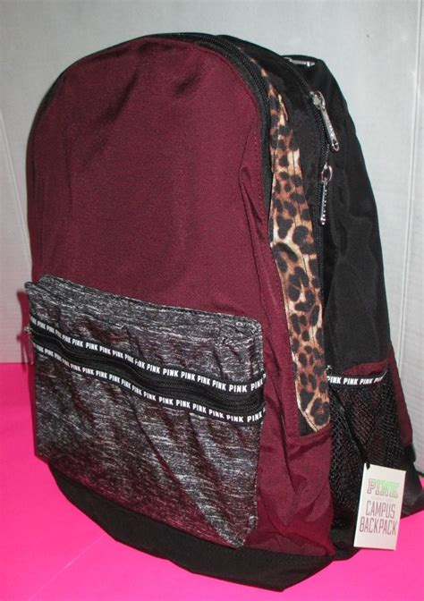 Tas Korea Studded Leopard Backpack pink book bags bags more