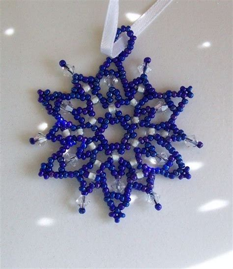 how to make a beaded snowflake 17 best images about beaded snowflakes on