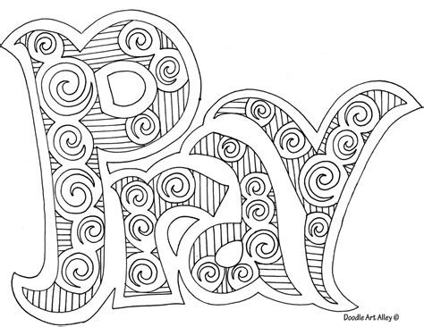 doodle religion prayer coloring pages religious doodles