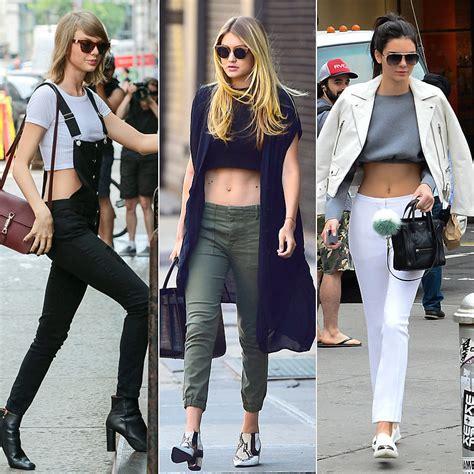 most stylish celebrities of 2015 complex celebrities wearing crop tops 2015 popsugar fashion