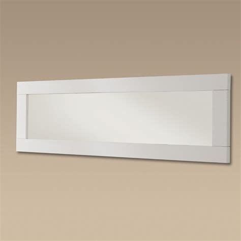 Garde Wall Mirror In White Gloss 20867 Furniture In Fashion White Gloss Bathroom Mirror