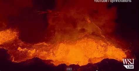 Awesome video! Drone films volcano spewing lava | KFOR.com Iceland Weather May