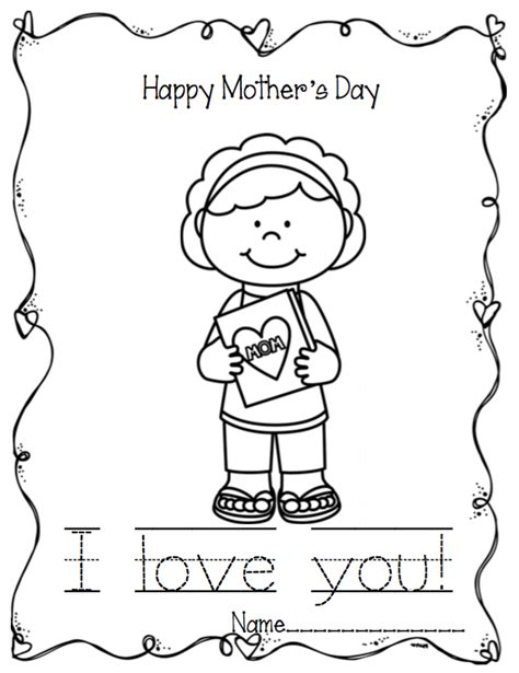 mothers day coloring pages for preschool mother s day writing coloring pages preschool printables