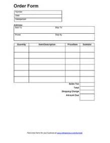 order form template sales order form order form and free printable