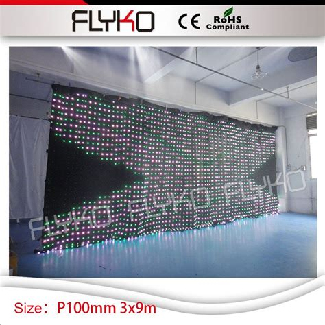 led video curtain for sale club america p10 high quality indoor rental led display 3m