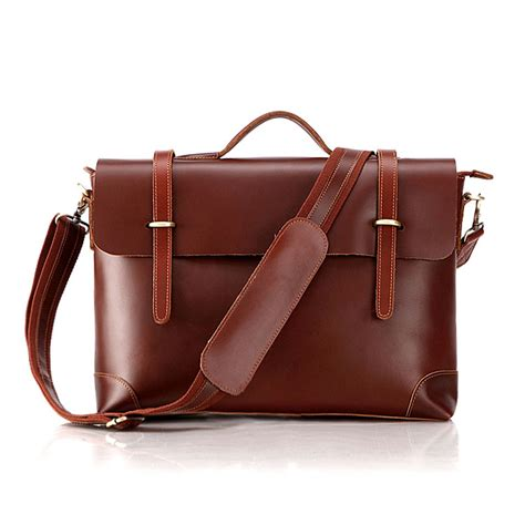 Tas Bao Bao Square 7082b genuine cow leather s briefcase laptop