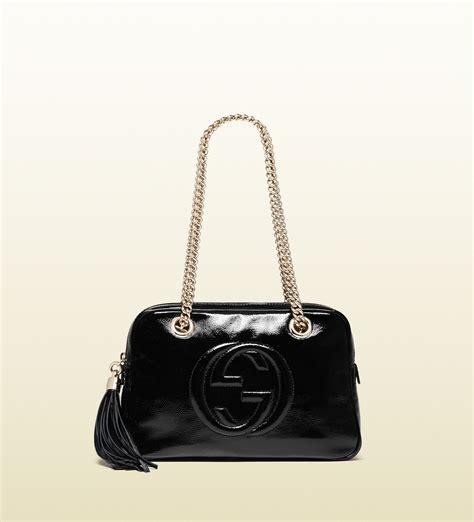 Garucci Shoulder Bag Abu Abu lyst gucci soho soft patent leather chain shoulder bag in black