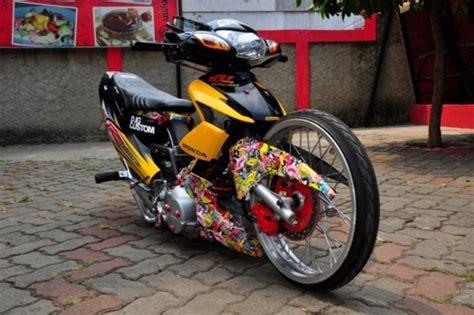 Konsep Modifikasi Motor by Modifikasi Motor Honda Wave R 125 Konsep Ceper Ekstrim