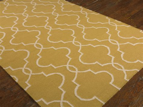 gold rugs contemporary moroccan tile clover wool rug gold contemporary rugs other metro by and