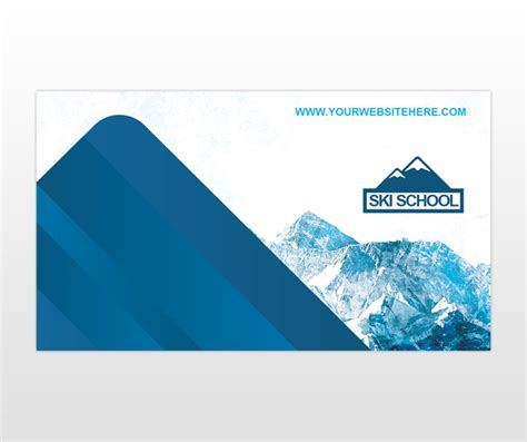 professional business card templates ski ski snowboard instructor business card