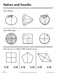beginning fractions halves amp fourths them understand