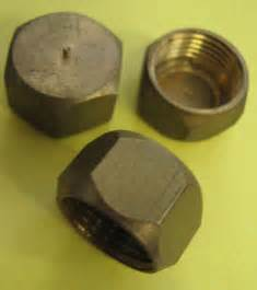 cap brass for plumbing pipe fittings threaded end for